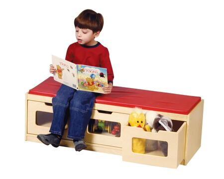 "Guidecraft G6419 Children""s Armless Wood Not Upholstered Bench"