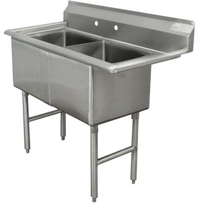 2 Compartment Sink   No Drainboard