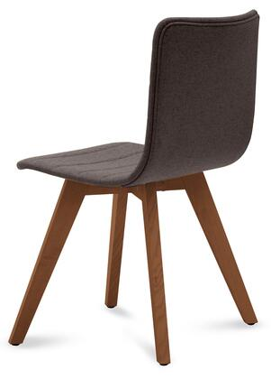 Domitalia FLEXAS0KSNCA8I Flexa Dining Chair with Walnut Ashwood Frame, Tapered Legs and Fabric Upholstery