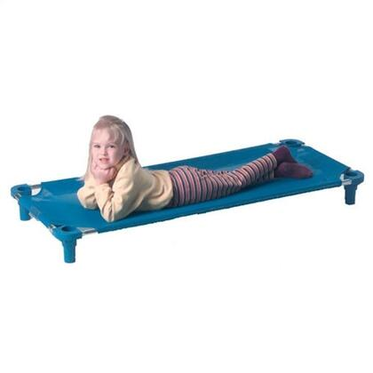 """Mahar 550TA 40"""" Blue Assembled Cot With Color Leg (Toddler Size)"""
