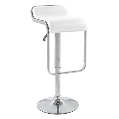 Fine Mod Imports FMI2124WHITE Commercial or Residential Leatherette Upholstered Bar Stool