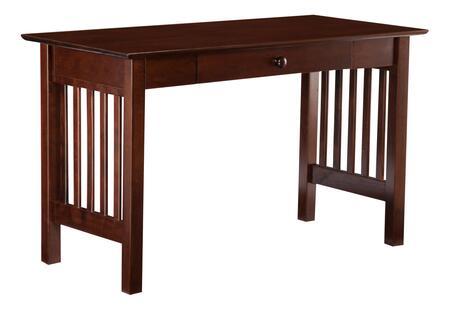 Atlantic Furniture H79294 Mission Series Writing  Wood Desk