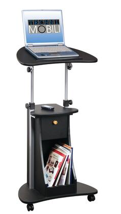 RTA Products RTA-B005- Techni Mobili Deluxe Rolling Laptop Cart w/ Storage in