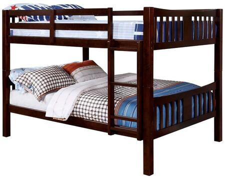 Furniture of America CMBK929FEXBED Cameron Series  Full Size Bunk Bed