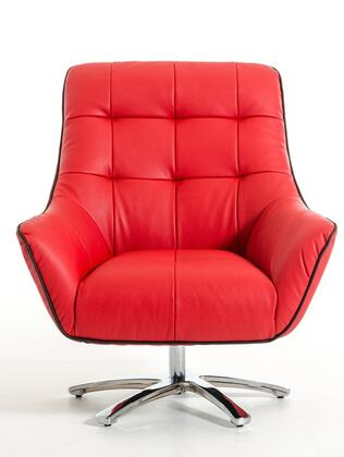 "VIG Furniture VGKKA901RED 34"" Lounge Chair"