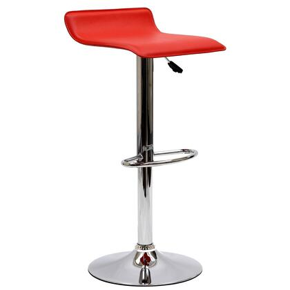 Modway EEI579RED Gloria Series Residential Faux Leather Upholstered Bar Stool