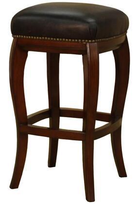 American Heritage 130855 Rinaldo Series Residential Leather Upholstered Bar Stool