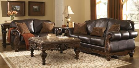 Milo Italia MI6844KIT5PCDKBR Franklin Living Room Sets