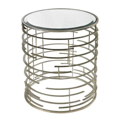 Sterling 11492 Ossettt Series Modern Metal Round None Drawers End Table