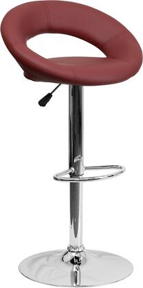 Flash Furniture DS811BURGGG Residential Vinyl Upholstered Bar Stool