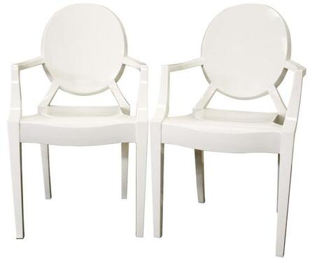 Wholesale Interiors PC449IVORY  Metal Frame Accent Chair