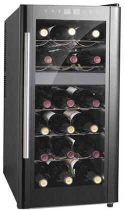 "Sunpentown WC1857DH 13.58"" Freestanding Wine Cooler, in Black"