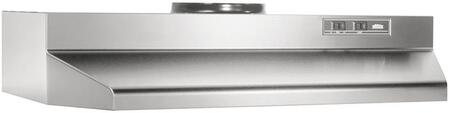 "Broan 42000 Series 4224 24"" Under Cabinet Range Hood with 190 CFM Internal Blower and 2-Speed Control in"