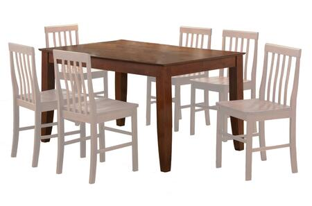 Walker Edison TW60S 60 Inch Dining Table