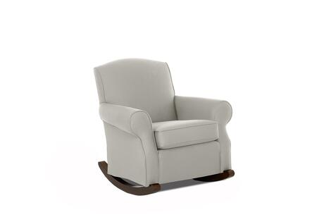 """Klaussner Marlowe Collection N-5-C- 37"""" Chair with Rolled Arms, Rocking Base, Piped Stitching, Box Seat Cushion and Fabric Upholstery in"""