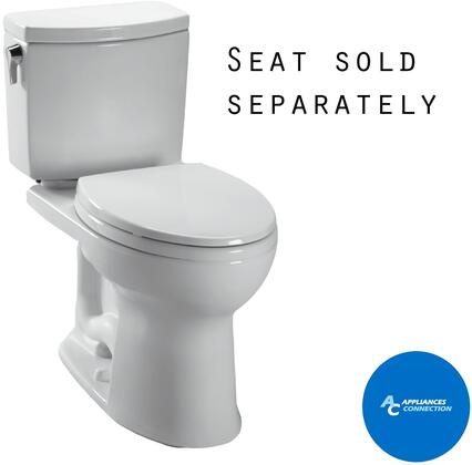 Toto CST454CUFG Drake II Series Two-Piece Elongated 1G Toilet with Vitreous China Construction, Tornado Flush System, and CeFiONtect Ceramic Glaze
