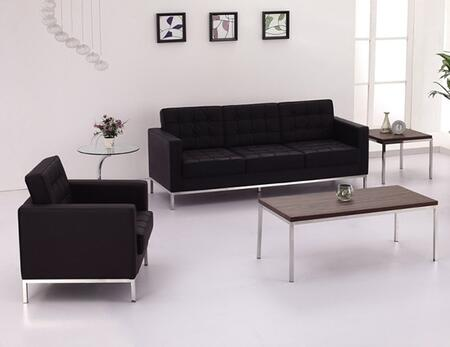 Flash Furniture ZBLACEY8312SCBKGG Hercules Lacey Living Room