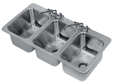 3 Compartment Drop In Sink