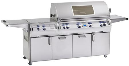 FireMagic E1060S-4E1X-51-W Echelon Diamond Series X Grill, 1056 sq. in. Cooking Area With Power Burner And Magic View Window On Cart: Stainless Steel