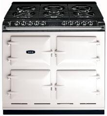 AGA A64NGWHT Six-Four Series Dual Fuel Freestanding Range with Sealed Burner Cooktop, 4.5 cu. ft. Primary Oven Capacity, in White