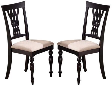 Hillsdale Furniture 4808802 Embassy Series Traditional Fabric Wood Frame Dining Room Chair