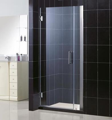 DreamLine SHDR-20337210 Unidoor Frameless Hinged Shower Door With Self-Closing Solid Brass Wall Mounted Hinges (5 Degree Offset), Reversible For Right or Left Door Opening & In
