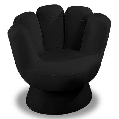 "LumiSource Mitt Collection CHR-MITT3529 32"" Chair with Hand Design, Sturdy Wood Construction and Fabric Upholstery in"