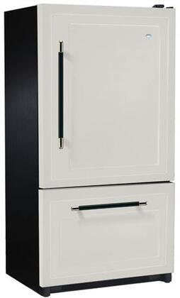 Heartland 316517LHD  Counter Depth Bottom Freezer Refrigerator with 20.2 cu. ft. Capacity in Gun Metal