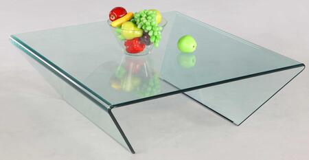 Chintaly 72102SQCT Contemporary Table