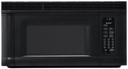Sharp R1405T 1.4 cu. ft. Over the Range Microwave Oven with 950 Cooking Watts, in Black