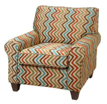 Chelsea Home Furniture 2036CH Leah Series Stationary Fabric Wood Frame Accent Chair