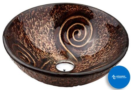 "Kraus CGV19MM15000ORB Multicolor Series 17"" Round Vessel Sink with 19-mm Tempered Glass Construction, Easy-to-Clean Polished Surface, and Included Oil Rubbed Bronze Ventus Faucet"