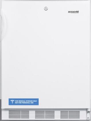 "AccuCold CT66L 24"" CT66JADA Series ADA Compliant, Medical Compact Refrigerator with 5.1 cu. ft. Capacity, Door Lock, Interior Light, Adjustable Thermostat, Clear Crisper, and Door Storage:"