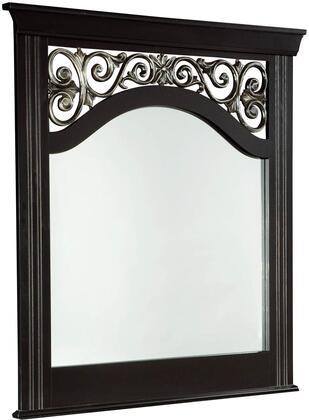 Standard Furniture 54568 Madera Series Rectangular Portrait Wall Mirror