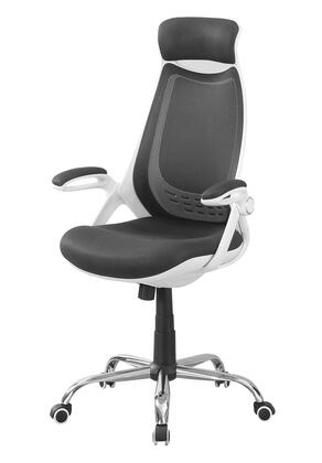 "Monarch I726HOC 50"" Office Chair with Mesh Fabric, Padded Armrest and Ergonomic Curved High Back in"