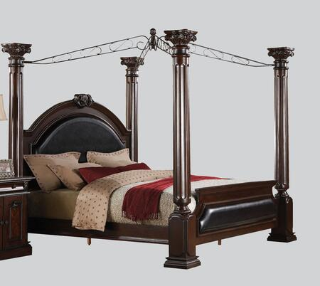 Acme Furniture 19326CK Roman Empire Series  California King Size Canopy Bed