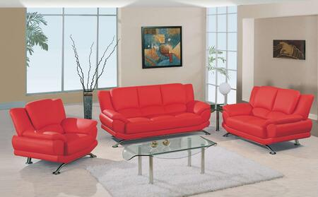 Global Furniture USA 9908RSLCH Contemporary Leather Living Room Set