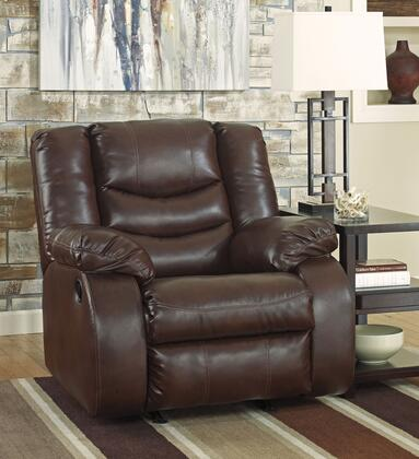 Milo Italia Lailah MI-7313ATMP Rocker Recliner with Pillow Top Arms, Divided Back Cushion and Metal Drop-In Unitized Seat Box in
