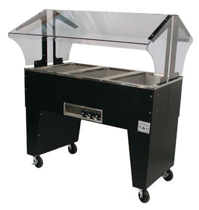 Advance Tabco B3-120-B Three-Well Portable Hot Food Buffet Table