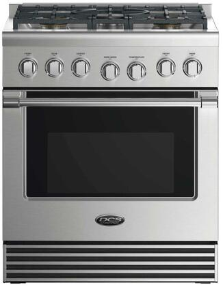 """DCS RDV2305 30"""" Dual Fuel Range with 5 Sealed Dual Flow Burners, 4 Cu. Ft. Oven Capacity, 5 Shelf Positions, Flat Vent Trim, and 6 Oven Functions: Stainless Steel"""