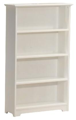 Atlantic Furniture FTBWH  Solid Hardwood 4 Shelves Bookcase