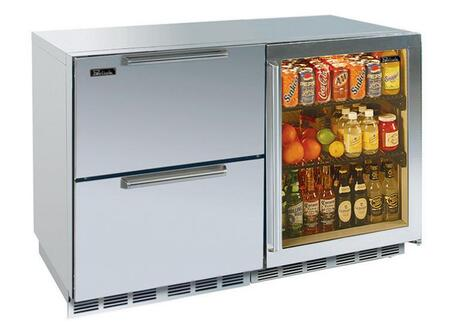 Perlick HP48FRS53RDNU Signature Series Counter Depth Side by Side Refrigerator with 12.3 cu. ft. Capacity in Stainless Steel