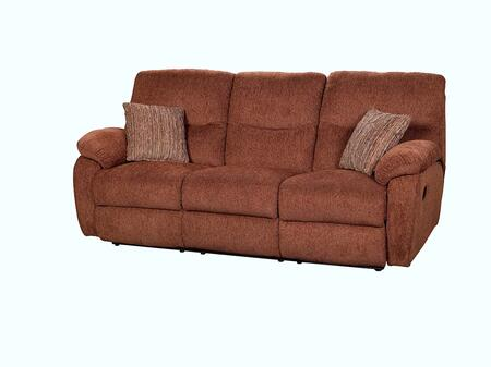 """New Classic Home Furnishings 21123FDG Cheshire 84"""" Dual Recliner Sofa with 100% Polyester Upholstery, Hardwood Frame, Sinuous Spring """"No Sag"""" Deck Support, Memory Foam Topper and Spring Cushion, in Fudge"""