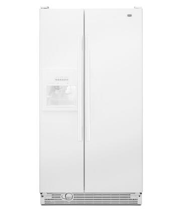 Maytag MSF25D2EAW  Side by Side Refrigerator with 25.1 cu. ft. Capacity in White