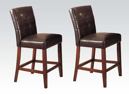 Acme Furniture 07242 Bologna Series Bycast Leather Upholstered Bar Stool