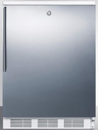 "AccuCold FF6LBI 24"" FF6BI Series Medical Freestanding or Built In Compact Refrigerator with 5.5 cu. ft. Capacity, Front Door Lock, Crisper, Interior Lighting and Automatic Defrost:"