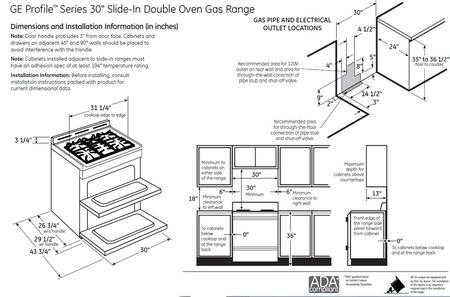 Ge Profile Pgs950sefss Slide In Double Oven Gas Range