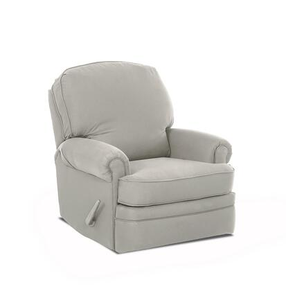 "Klaussner Stanford N-9H-SGRC 36"" Swivel Gliding Reclining Chair with Classic Roll Arms and Two Seat Cushions in"