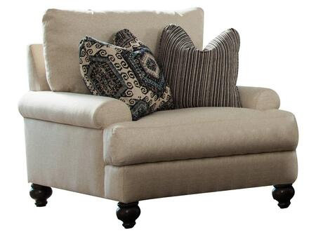 "Jackson Furniture Westchester Collection 3232-01- 41"" Chair with Turned Legs, Two Throw Pillows and Recessed Rolled Arms in"