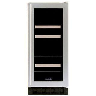"Marvel 3BARMR 15"" Dual-Zone Beverage/Wine Refrigerator with 4-Wine Bottle Capacity, 60-Can Capacity, Wine Rack, 3 Shelves and Right Hinge Door Opening"